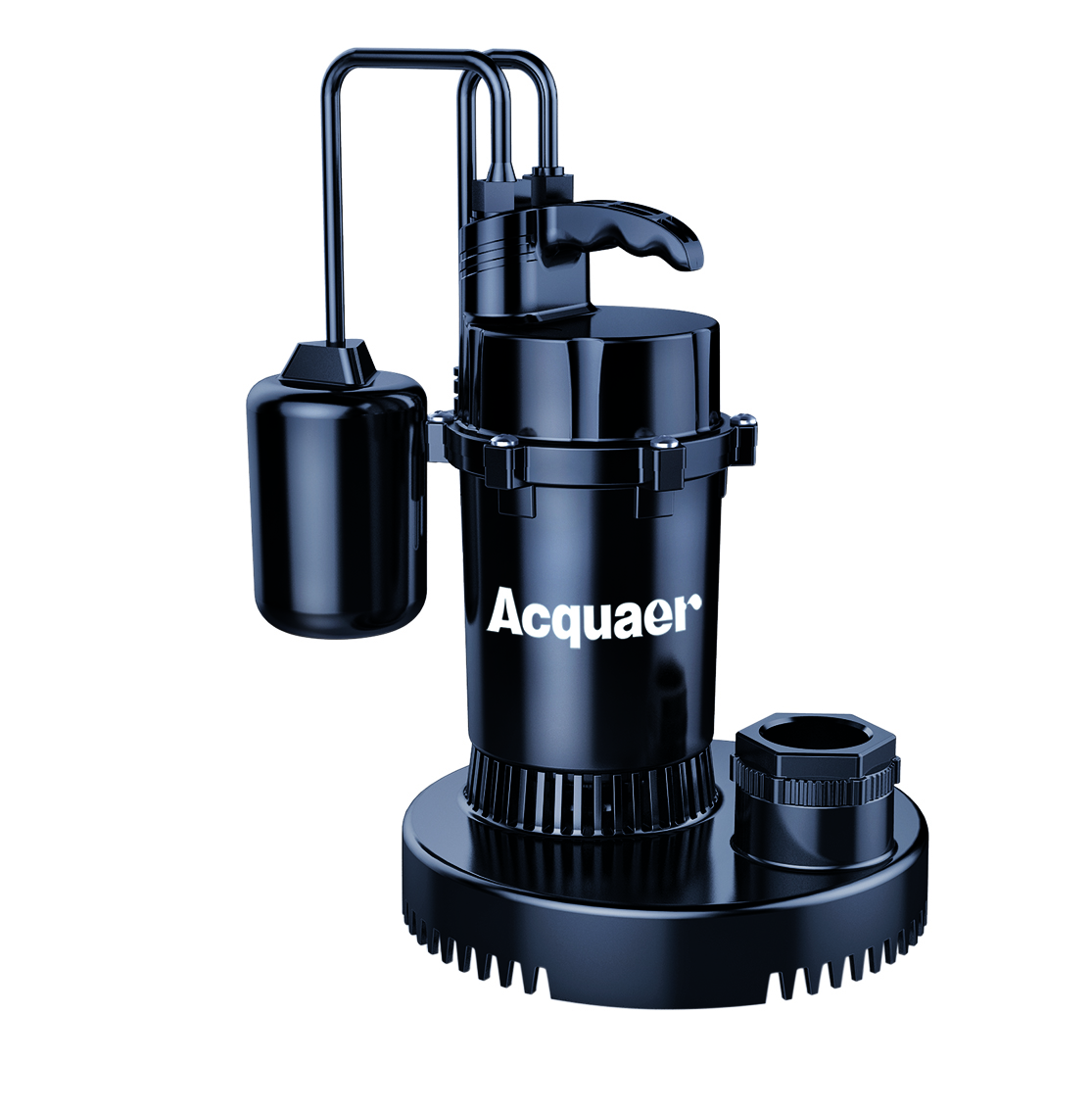 Acquaer 1//3 HP Submersible Utility Pump,Thermoplastic